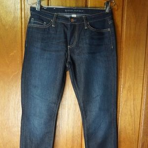 BANANA REPUBLIC Womens Size 27P Dark Skinny Ankle